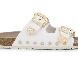 TOP SHOP  SLIDES GOLD BUCKLES SLIDES